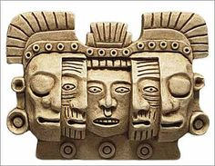 Maya Mask of Death and Rebirth Sculpture Relief - Reproduction of Original from Tikal, Mexico. This Maya mask shows the different stages of life as part of a never ending cycle of human evolution through life and the afterlife as it was un Maya Art, Mayan Mask, Aztec Mask, Arte Latina, Ages Of Man, Aztec Culture, Inka, Mexican Art, Ancient Civilizations