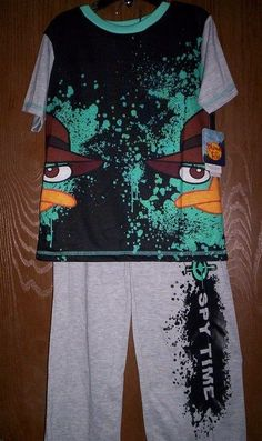 Phineas and Ferb PERRY Boy's 4/5 Pajamas NeW Short Sleeve Shirt & Pants Pjs NWT #Disney #PajamaSets