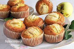 Babeczki z jabłkiem, babeczki z owocami, muffiny z jabłkami, http://najsmaczniejsze.pl #food #babeczki #jabłka