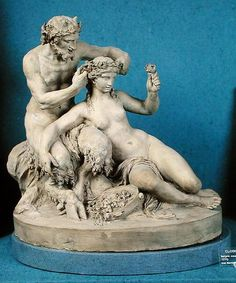 Clodion, Satyr Crowning a Bacchante, 1770.