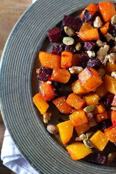 These vegetables are made out of dessert. …And roasted butternut squash. And roasted beets. But mostly, they're made out of dessert. Fall, you'uns. Welcome to it! Fall is officially her…