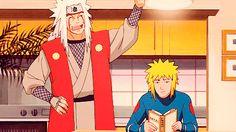 Jiraya and Minato - Naruto Naruto Minato, Itachi, Naruto Anime, Otaku Anime, Manga Anime, Team Minato, Lady Tsunade, Jiraiya And Tsunade, Shikamaru