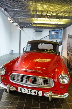 Skoda Felicia Super - 1964 - Vintage car at the National Technical Museum of… Felicia, Vintage Cars, Classic, Wheels, Gallery, Motorbikes, Prague, Museum, Antique Cars