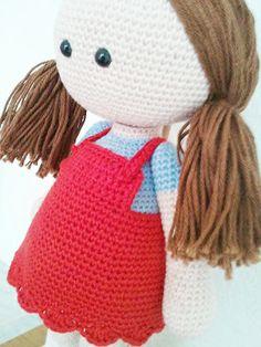 Irresistible Crochet a Doll Ideas. Radiant Crochet a Doll Ideas. Cute Crochet, Crochet For Kids, Beautiful Crochet, Easy Crochet, Knitted Dolls, Crochet Dolls, Crochet Yarn, Amigurumi Patterns, Amigurumi Doll
