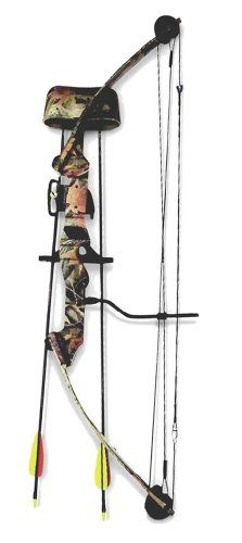 "SA Sports Youth Moose Compound Bow Set - This Package is an excellent transition bow setup that will take your youngster out of the ""Toy Kids Bow"" category and prepare him or her for the thrill of entering into the ""Big Bow"" realm."