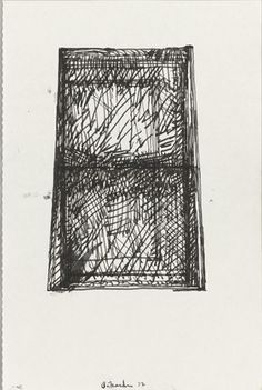 'Suicide Notes' (1972) by American artist Brice Marden (b.1938). Ink on paper, 11.75 x 7.75 in. via MoMA