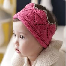 2015 New Arrival Baby Headbands Autumn Dress Hair Accessories Fashion Kids Imperial Crown Acrylic Elastic Bands FQ080(China (Mainland))
