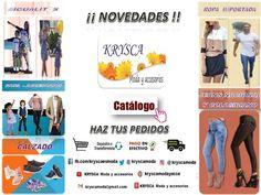 ❗ #NovedadesKrysca❕ Nuevos Catálogos✔ ✿ Modelos y Marcas exclusivas ✔ ✿ Nacional e Importada ✔ ✿ Para toda la familia ❤  FB.COM/KRYSCAESMODA  kryscamoda@gmail.com ➡ www.youtube.com/channel/UCJBjXCgSjKbUcESjMklEBeQ  #DeTodoUnPoco #kryscamodayaccesorios #kryscamoda #krysca #kryscaesmoda #modakrysca #modayaccesorios #moda   Foto