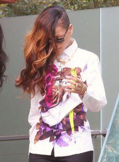 the hair colour mix.Loving the hair colour mix. Rihanna Hairstyles, Undercut Hairstyles, Crown Hairstyles, Long Weave Hairstyles, Shaved Side Hairstyles, Undercut Long Hair, Undercut Pixie, Curly Hair Styles, Natural Hair Styles