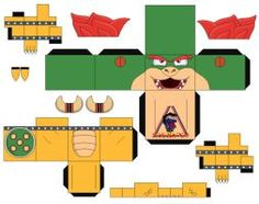 Bowser Mario Bros 2 - cubeecraft / papercraft by MarcoKobashigawa