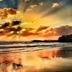 sunrise over Currumbin Beach in #Queensland #Australia
