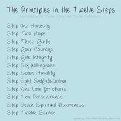 The Principles in the Twelve Steps. Sober Quotes, Aa Quotes, Sobriety Quotes, Crush Quotes, Life Quotes, Food Quotes, Substance Abuse Counseling, Addiction Recovery Quotes, Celebrate Recovery