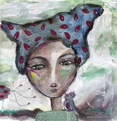 fine art print blue pattern hair lady and bird by SiobhanJordan, Face Art, Painting & Drawing, Fine Art Prints, Birds, Drawings, Artist, Pattern, Blue, Paintings