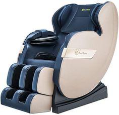 Real Relax 2020 Massage Chair, Full Body Zero Gravity Shiatsu Recliner with Bluetooth and Led Light, Blue and Khaki Good Massage, Neck Massage, Shiatsu Massage Chair, Buy Chair, Massage Roller, Back Pain, Relax, Full Body, Zero