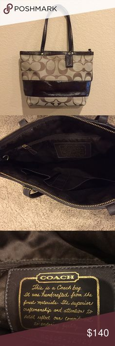 Brown Coach shoulder handbag This beautiful Coach handbag is in excellent condition!  It goes with everything and is the perfect size-not too big and not too small! Coach Bags Shoulder Bags