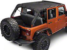 Jeep Wrangler JK Sun Shade Mesh Top Cover For 4-Doors  2007 High Toughness