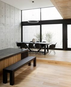 Concrete Box House is a private residence designed by Houston-based Robertson Design. The design and architecture of this house . Beton Design, Concrete Design, Design Design, Design Ideas, Minimalist House Design, Minimalist Home, Journal Du Design, Concrete Architecture, Concrete Houses