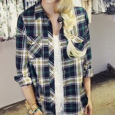 The Campfire Plaid Top