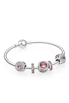 Dressing in shades of blush is one the season's dominant trends. Flattering and feminine, blush is a sophisticated way of incorporating pretty pastel hues to your look. Mix it with sparkling stones for a truly dazzling look. #PANDORA #PANDORAbracelet