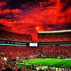Crimson Sky over Bryant Denny Stadium - From Twitter