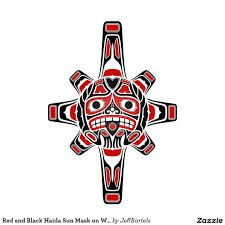 Image result for sun tattoo red and black