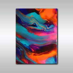 Original Abstract Painting - Multicoloured  Art - 18 Inch x 24 Inch Jewel Toned - Resin Coated - Abstract Wall Decor - Original Wall Art on Etsy, $846.78