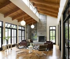Modern Barn - Living Room  http://gustavecarlsondesign.com/projects_barn_interior.html#