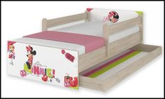 Disney children's bed Minnie-A – Kiddymill Minnie Mouse Bedding, Magical Room, Childrens Desk, Mattress Frame, Bed With Drawers, How To Make Bed, Kid Beds, Cot, Kids Bedroom