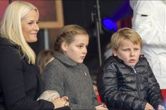 Save the Children's Peace Prize Party 2014, Oslo, Norway. (LtoR) Mette-Marit, Crown Princess of Norway with her children Princess Ingrid Alexandra and Prince Sverre Magnus.