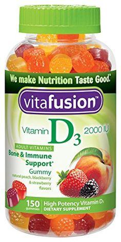 Vitafusion Vitamin D3 Gummy Vitamins, Assorted Flavors, 150 Count, seasonal depression, daylight savings time
