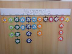narozeninová nástěnka Classroom Activities, Classroom Decor, Preschool Birthday, Work Bulletin Boards, Birthday Display, Birthday Charts, Birthday Calendar, Beginning Of The School Year, School Resources