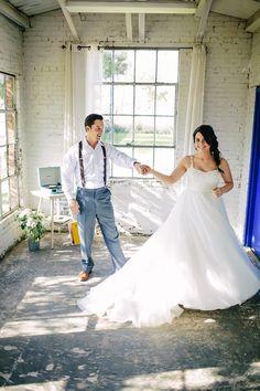 Brunch Morning Wedding ~ Sunday Kind of Love. Bride and Groom First Dance