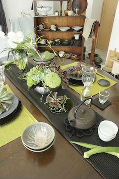 Japanese table setting.