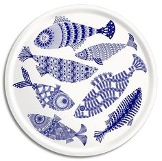Blue Fish Circular Tray made from Scandinavian birch. Designed by British textile designer Asta Barrington, under the name Alabasta. £36 from www.starfishbay.co.uk