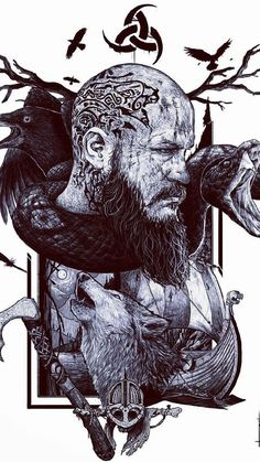 How come the Vikings became such great warriors? But bear in mind that the Vikings did not win all the battles. Ragnar Lothbrok Vikings, Norse Tattoo, Celtic Tattoos, Viking Art, Viking Runes, Viking Ship, Viking Warrior Tattoos, Old Warrior, Viking Power