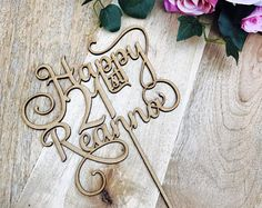 Happy 21st Birthday Cake Topper Decoration Decorating Personalised Toppers