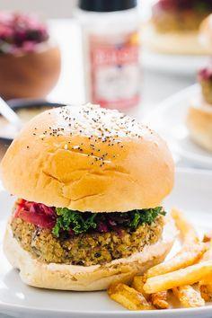 Vegan Quinoa Cauliflower Burgers