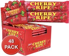 Cadbury Cherry Ripe Bars 48 x Bff Birthday, Chocolate Coating, Nutrition Information, Chocolate Lovers, Cocoa Butter, Serving Size, Cherries, Contents, Chocolates
