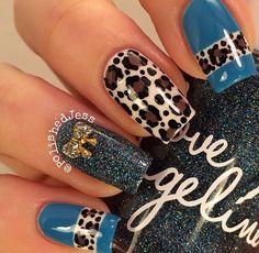 Rodeo Nails, Camo Nails, Leopard Print Nails, Swag Nails, Leopard Nail Art, Zebra Nails, Stylish Nails, Trendy Nails, Western Nail Art