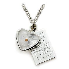 Sterling Silver Mustard Seed Heart Necklace with Passage Plaque on 18 Silver Plated Chain -- Check out the image by visiting the link.Note:It is affiliate link to Amazon.