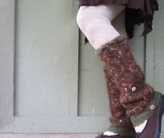 Upcycled Mohair Leg Warmers Gypsy Pixie Hippie by DewdropzGarden