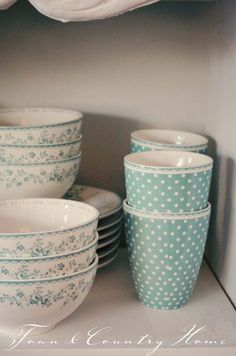 "TOWN COUNTRY HOME - GreenGate ""Audrey"" mint & ""Spot"" mint"