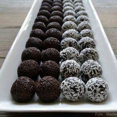 Hjemmelavede romkugler på 5 minutter... - Madenimitliv Blueberry, Goodies, Food And Drink, Fruit, Desserts, Iran, Cacao Powder, Marmalade, Sweet Like Candy
