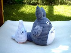 Amigarumi Totoros.  My favorite kind of totoro.