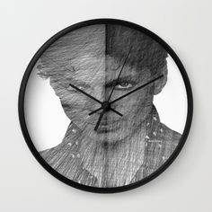 Buy Prince - Immortal Tribute Sketch in Black and White Wall Clock by Rafael Salazar. Worldwide shipping available at Society6.com. Just one of millions of high quality products available.