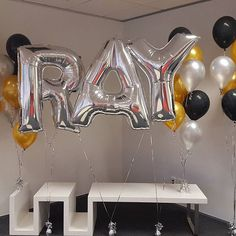 A recent celebration for Ray's birthday.   #buildabirthday #balloons #heliumballoons #celebration