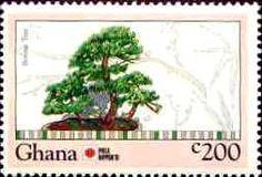 Bonsai on Postage Stamps, Ghana