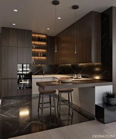 5 Impressive Ideas Can Change Your Life: Small Kitchen Remodel Granite apartment kitchen remodel granite countertops. Contemporary Interior Design, Modern Kitchen Design, Interior Design Kitchen, Kitchen Contemporary, Modern Design, Kitchen Designs, Contemporary Cottage, Contemporary Apartment, Contemporary Fireplaces