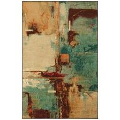 Blue Abstract Rug (8' x 10')