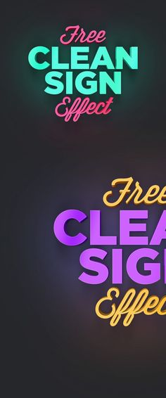 Clean Sign Text Effect (.Psd)